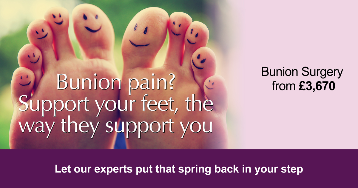 Bunion Surgery treatment at Highgate Private Hospital