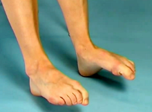 Toe bend exercise