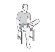 Sitting plantar fascia stretch exercise