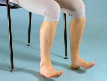 Seated foot and heel raise exercise