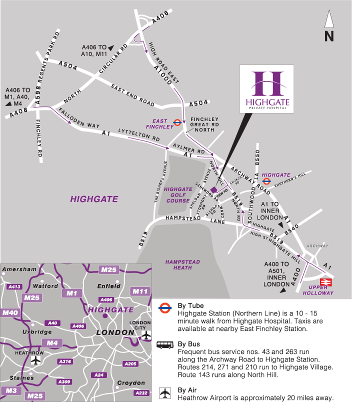 Directions to Highgate Private Hospital